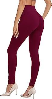 VESHINE 女式高腰打底裤收腹瑜伽裤不透明修身健身紧身裤超柔软长裤