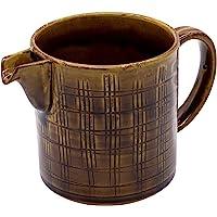 波佐见烧 长十郎窑 咖啡壶 格子雕 棕色 02104413