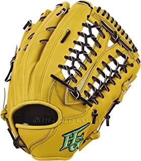 硬式棒球手套 技术极系列 外野手用手套 自然黄×黑色 右投