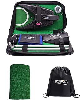 POSMA GSP010B 一体式高尔夫推杆训练行政礼品套装完美高尔夫训练推杆礼品套装,适合室内户外高尔夫练习 - 铝制推杆