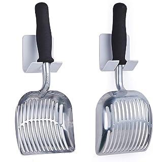 iPrimio Scoop 怪物猫砂铲,带软泡沫手柄 - 超大铲子,易于抓握,适用于*双手。 银色 银