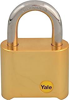 Yale YALY12650 Y126/50/127/1 黄铜密码锁 50 毫米,金色