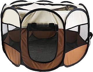SING F LTD 便携式折叠宠物帐篷 狗房 旅行 猫 玩耍笔 睡围栏 小狗窝垫 90¡Á90¡Á60cm