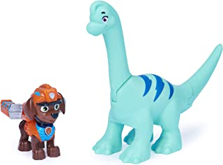 Paw Patrol 恐龙救援Zuma和恐龙可动公仔套装,3 岁及以上儿童适用