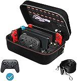 任天堂切换游戏旅行豪华储物箱,iVoler 便携式任天堂开关携带 - 全防护硬邮差包 软内衬 18 游戏适用于切换控制台…