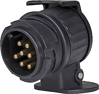 AS Schwabe 60439 7 极插头至 13 极插座汽车拖车适配器 - 黑色