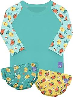 Bambino Mio SWSETL TRO,游泳套装,甜美,L(1-2 岁),多色