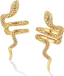 DREMMY STUDIOS金色耳环夹式假耳环简单无穿孔软骨耳环适合女士女孩礼物 1 件