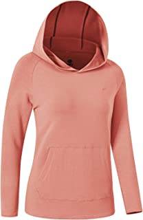 AjezMax 女式连帽衫轻质长袖衬衫套头羊毛连帽运动衫带袋鼠口袋