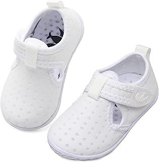 JIASUQI 男婴女孩赤脚游泳泳池水鞋沙滩散步凉鞋运动鞋