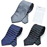 BUSINESSMAN SUPPORT(商务支持) 格林针织 Polo 可洗领带 3件套 带洗涤网1个 防水加工