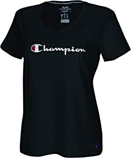 Champion 女式加大码双倍干燥棉 V 领 T 恤