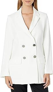 AX Armani Exchange 女式双排扣绉绸外套