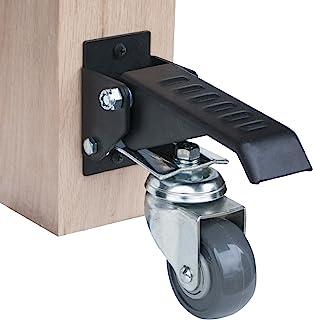 POWERTEC 17000 工作台脚轮套件,带聚氨酯轮和 400 磅总重量容量 - 4 件装