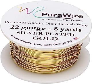 ParaWire 金色镀银铜工艺线 22 号 8 码(约 22.7 米)带透明保护涂层