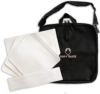 垒球包 - 投掷棒球底座,带定制手提袋 - 适合棒球、桌球、垒球、踢球、儿童、后院、练习和学校