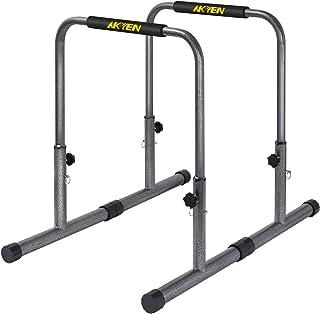 AKYEN 蘸酱站可调节锻炼平行杆,300 磅(约 136.1 千克)容量