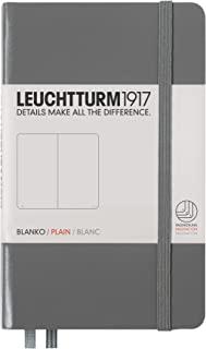 LEUCHTTURM1917 灯塔口袋型无格笔记本深灰色硬封皮(A6)