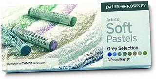 Daler Rowney 灰色硬蜡笔套装(12 件装) 柔软 Pack of 8 灰色