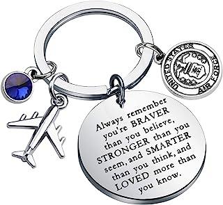 KUIYAI *礼物 *钥匙链 永远记住你勇敢比你相信 钥匙扣 *丈夫男友礼物 * USAF 钥匙链