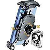 Kewig 通用自行车手机支架防抖手机支架适用于自行车和摩托车 轻松安装在车把上 360° 旋转自行车手机支架适合 4…