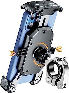 Kewig 通用自行车手机支架防抖手机支架适用于自行车和摩托车 轻松安装在车把上 360° 旋转自行车手机支架适合 4-7 英寸智能手机 GPS 其他设备