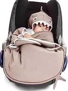 Wallaboo Coco 羽绒被,非常实用且柔软的婴儿被,100% 棉,90 x 70 厘米 Taupe shark