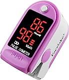 Facelake ® FL400 脉搏血氧仪,带便携盒,电池,颈部/腕带 - 粉色