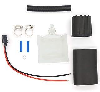 HiSport 燃油泵安装套件 - 包括过滤器/袜子、燃料软管、猪尾*带连接器、软管夹、橡胶护套和隔离器,兼容 Walbro GSS342 GSS341