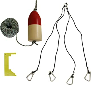 KUFA Sports Deluxe Crabbing Kit with 5 x 11-Inch Crab Trap Float and Leaded Rope Coil/4 Point Deluxe Heavy Duty Harness an...