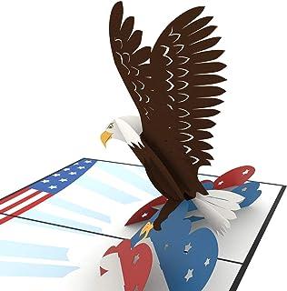 Unipop 卡片美国鹰弹出卡,美国老鹰礼品卡,美国贺卡,励志卡,鹰子军卡,感谢卡,男士生日卡,弹出卡