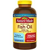Nature Made 鱼油软胶囊,Burp-Less 1000毫克,320粒,鱼油Omega 3补充剂