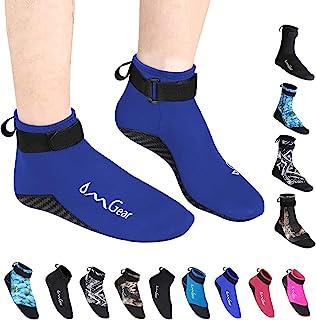 水袜氯丁橡胶袜海滩靴鞋 3mm 胶水暗针缝合防滑潜水服靴子鳍沙袜适用于水上运动户外活动家居拖鞋