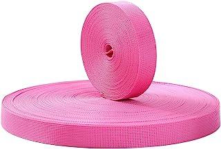尼龙织带,1 英寸重型尼龙带,彩色扁平尼龙捆扎带,用于工艺品、狗带、背包、户外活动 - 10、20 或 50 码