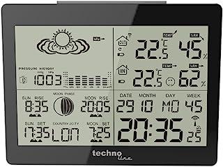 Technoline WL 1005 气象站 - 黑色-P 14.8x4.5x11 cm 黑 WS 6760