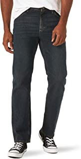 Wrangler 正品男式經典直筒牛仔褲 Homestead Blue Flex 44W x 32L