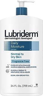 Lubriderm 无香味每日保湿身体乳霜,含维生素B5,适合中性至干性皮肤,不油腻和无香料的乳霜 24液体盎司/709毫升