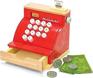 Le Toy Van - 木制蜂蜜玩具收银机 | 角色扮演玩具 | 带收据,打开抽屉和游戏钱 | 非常适合超市,食品店或咖啡馆假扮游戏