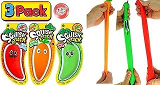 JA-RU 弹力胡萝卜和胡椒蔬菜挤压攻击感官玩具(3 件装)压力缓解玩具沙填充,Fidget 玩具复活节礼物,适合儿童和成人。自闭*玩具,派对礼品。5560-3p