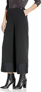 A|X Armani Exchange 女式优雅双色超宽松修身裤