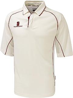 Surridge Sports 男式 3/4 袖板球衬衫,红色,尺码 2XL
