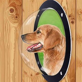 PXRJE 狗栅栏窗,亚克力圆顶狗栅栏窗,宠物和狗躲猫气泡窗,狗圆顶围栏透明窗,用于满足好奇宠物,减少吠叫。(透明)