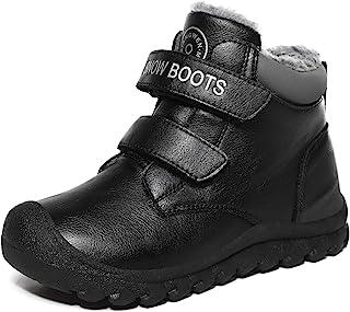 l-run 男式防水雪地靴带毛冬季休闲短靴户外