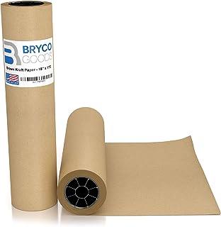 棕色巨型牛皮纸卷 - 45.72 cm x 239.68 cm - 美国制造 - 包装、移动、礼品包装、邮寄、包裹、邮寄、包裹、壁画、工艺品、公告板、地板覆盖、桌巾