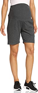 Kegiani 孕妇棉质短裤带口袋孕妇休闲夏季短裤裤,适合休闲锻炼,内缝 7 英寸(约 17.8 厘米)