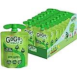 GoGo squeeZ 苹果酱,苹果,3.2 盎司(18 袋),不含麸质,素食,不加糖苹果酱,可回收,不含双酚 A 的袋