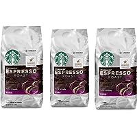 Starbucks 星巴克 深度烘培,意式浓缩研磨咖啡,12盎司/340克袋装(3件装)新老包装 随机发货
