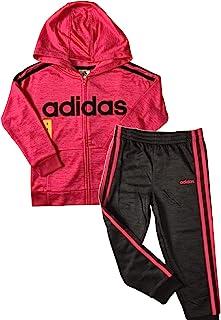 Adidas 阿迪达斯女童经编拉链夹克裤子套装