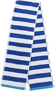丸真 围巾 葡萄牙制造 提花毛巾 条纹 蓝色 110×14cm 0366031400