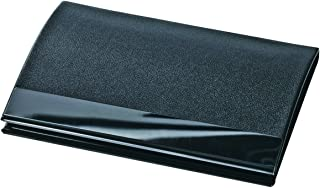 Wedo 2056501 名片盒 阴影(皮革外观和青铜表面 适用于卡,尺寸 90 x 57 毫米)